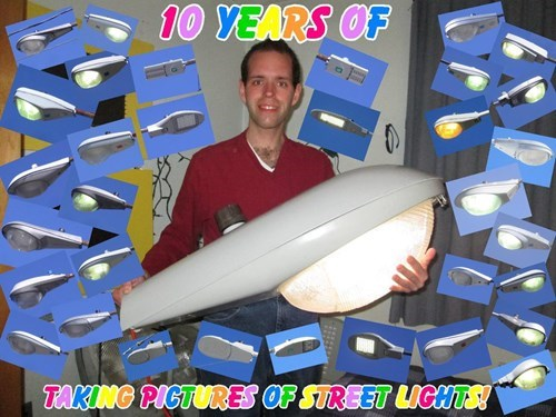 ten years taking pictures of street lights