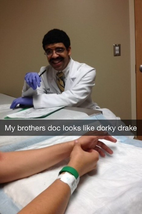 my brothers doctor looks like dorky drake