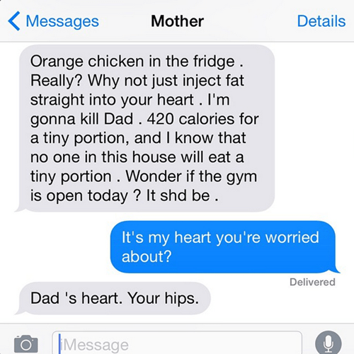 mother, concerned, overbearing, fitness