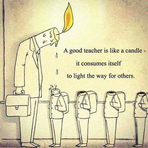good teacher candle melts into children poster