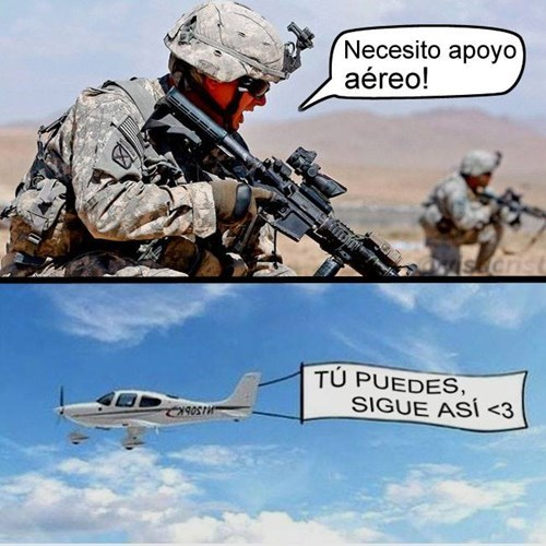 apoyo aéreo