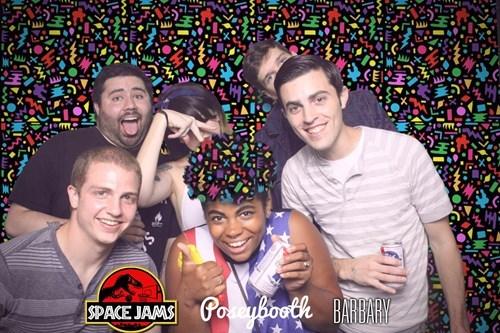 green hair group photoshoot