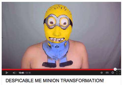 minion make up tutorial video