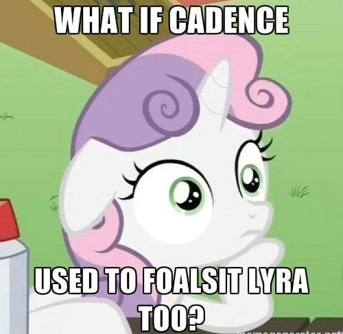 princess cadence,Sweetie Belle,lyra heartstrings,headcanon,fanfic