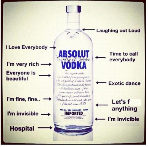 vodka, drunk, stages