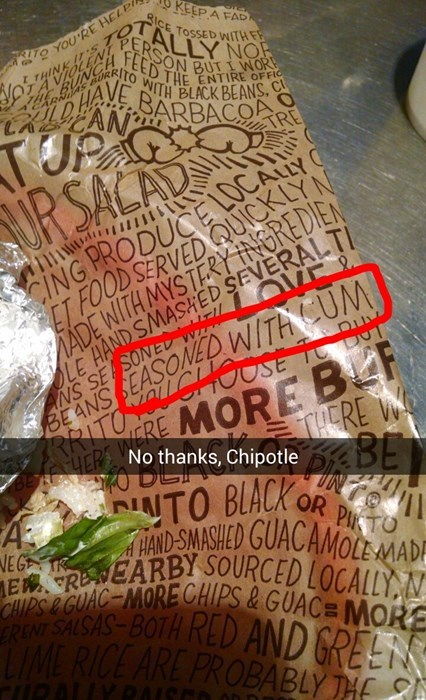 no thanks Chipotle