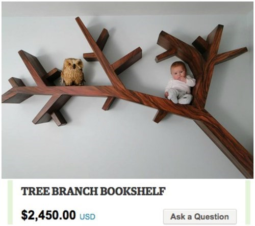 Shelf - TREE BRANCH BOOKSHELF $2,450.00 USD Ask a Question