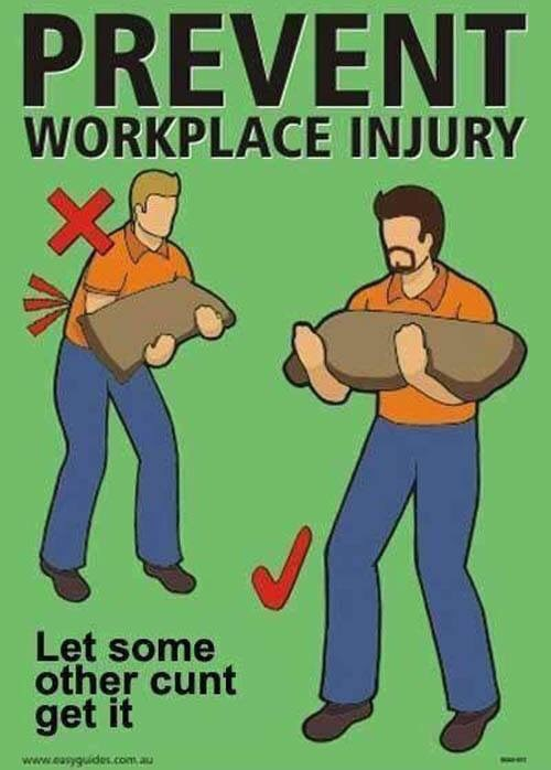 workplace injury other get it
