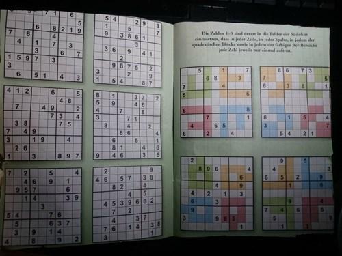 Text - 7 11 6 5 4 29 5 8 2 19 6 1 9 7 3 861 Die Zablen 1-9 sind derart in die Felder der Sudekus einresetsen, dass in jeder Zeile, in jeder Spalee, in jedem der quadratischen Blcke sowie in jedem der farbigen 9er-Bereiche jede Zahl jeweils nur einmal aufrin 8 4 4 1 7 3 3 6 3 6 4 1 7 1 59 7 2 3 9 8 7 5 3 2 8 6 7 3 7 6 2 5 4 5 1 4 3 6 8 3 7 1 8 7 6 8 3 1 2 6 5 6 1 3 7 2 4 8 4 6 7 49 2 4 7 6 7 3 3 7 5 4 7 1 3 8 4 9 7 5 8 4 4 6 5 3 7 2 7 8 6 5 4 2 1 8 2 4 4 19 4 5 8 1 4 6 2 6 6 3 1 3 8 9 7 5 2 8 96