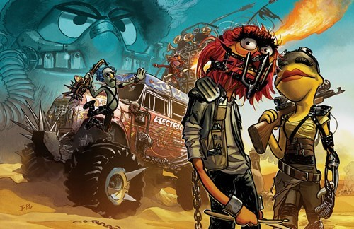Animal stars as Mad Max in Muppet Road.