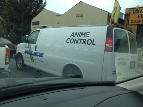 anime memes anime control police van