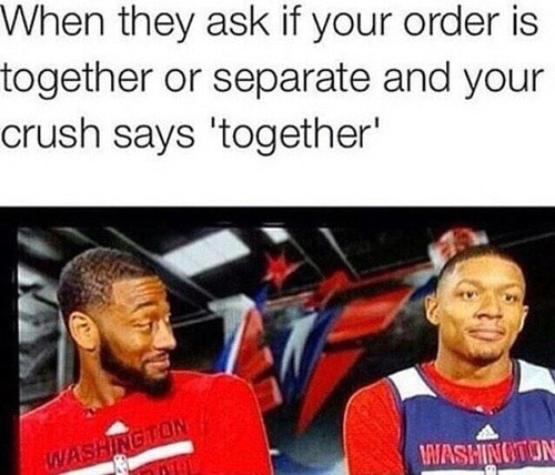 crush, food, order, together