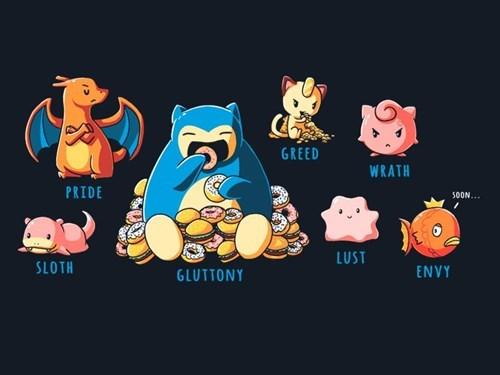 pokemon memes seven deadly sins tee