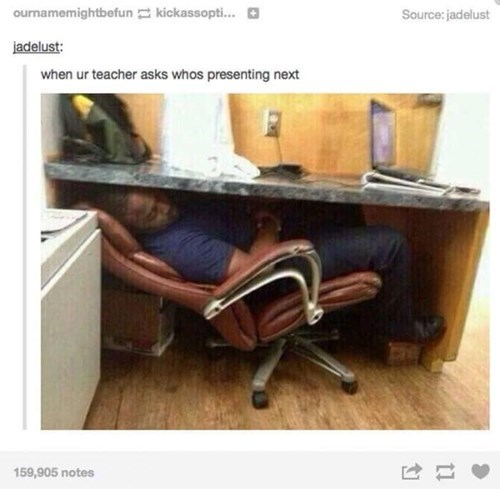 sleeping under desk tumblr