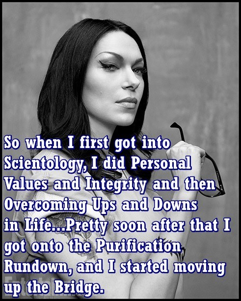 Facial expression - So when I first got into Scientology, I did Personal Values and Integrity and then Overcoming Ups and Downs in Life...Pretty soon after that I got onto the Purification Rundown, and I started moving up the Bridge.