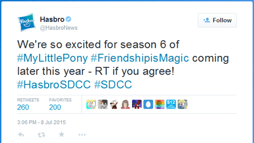 twitter MLP release date SDCC 2015 - 8530860544