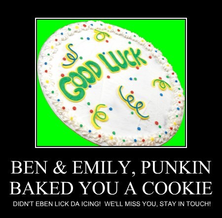 BEN & EMILY, PUNKIN BAKED YOU A COOKIE