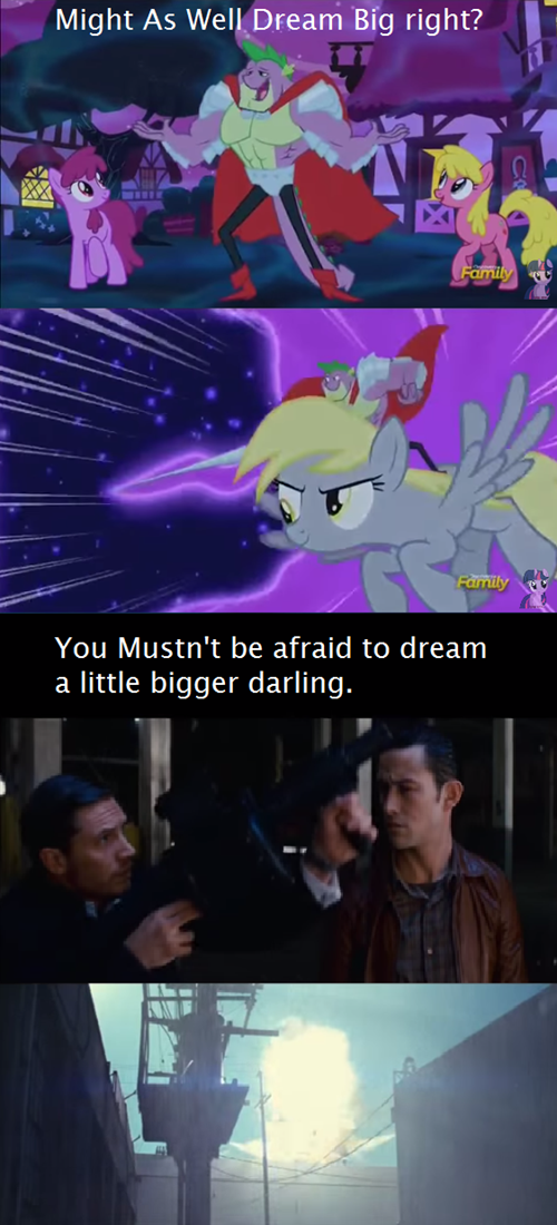 spike,dream,Inception,derpy hooves