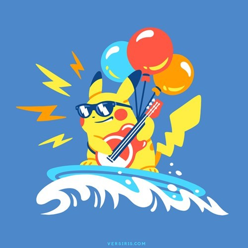 pokemon memes pikachu surfboard balloons guitar