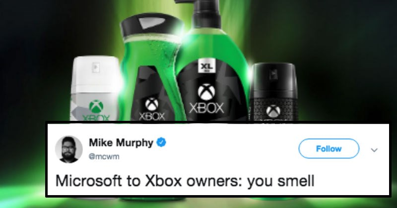 game smell FAIL gamers xbox dumb microsoft stupid body wash twitter australia tweets axe lynx - 8534789