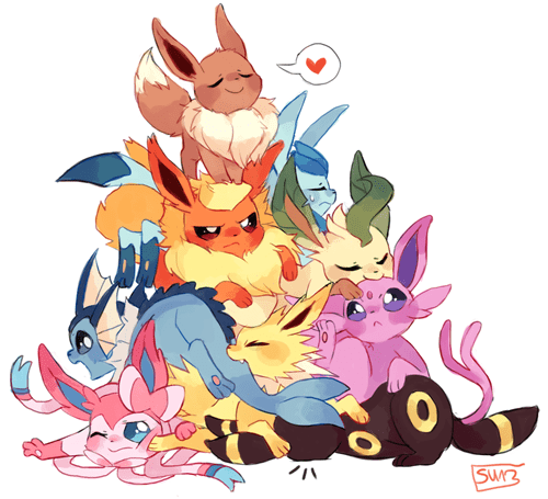 pokemon memes eeveelution fan art