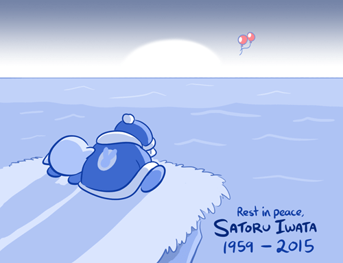 Cartoon - Rest in peace SATORU IWATA (959-2015