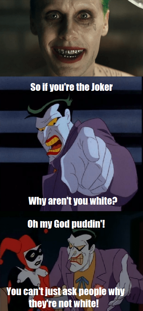 the joker,white,mean girls