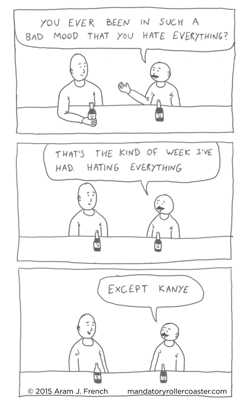 bad mood,kanye west,web comics