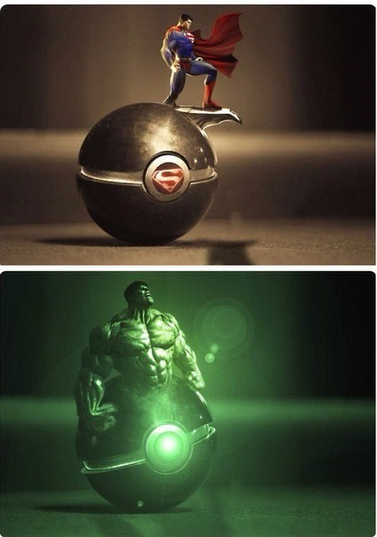 superheroes-superman-dc-hulk-marvel-i-choose-you-pokeball-memes