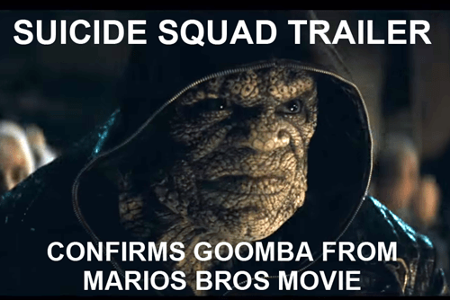 killer croc goomba mario bros suicide squad - 8537156608