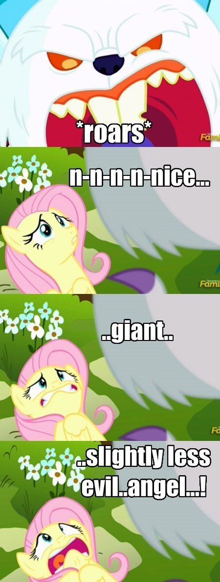 scary,angel,fluttershy