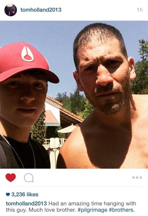 superheroes-spider-man-punisher-marvel-tom-holland-jon-bernthal-instagram-selfie