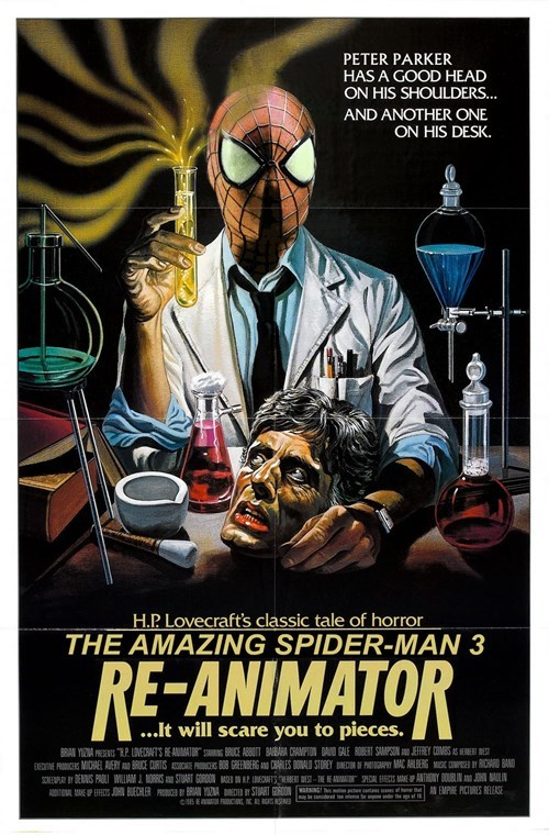poster awesome Spider-Man reanimator