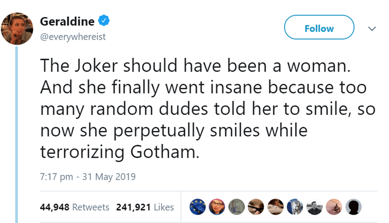 joker feminism funny tweets female - 8538885