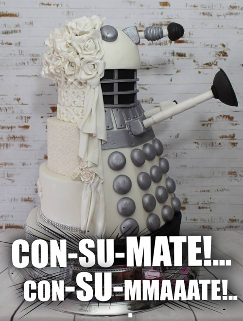 dalek puns wedding cake - 8539095808