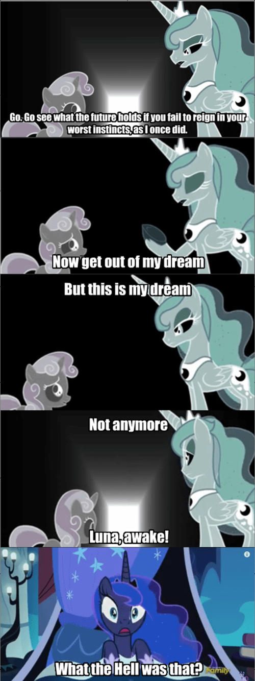 Sweetie Belle dreams princess luna - 8539361280