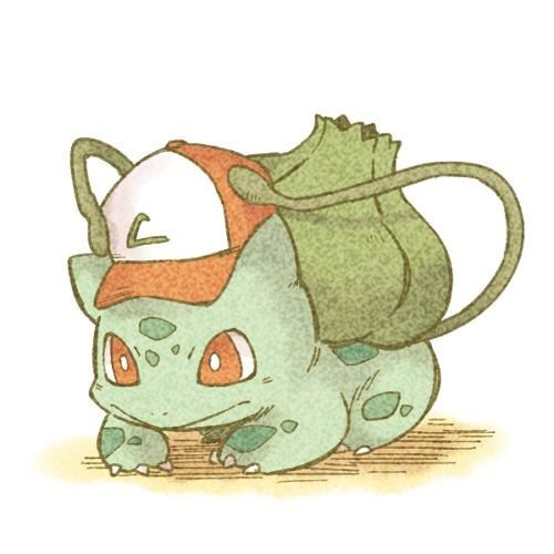 pokemon memes bulbasaur ash hat fan art