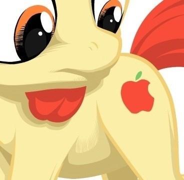 logo cutie mark apple bloom apple - 8539600384