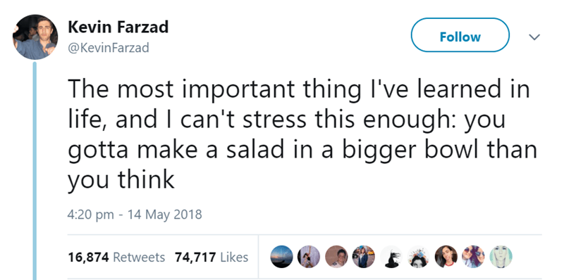 Tweets about salad bowk