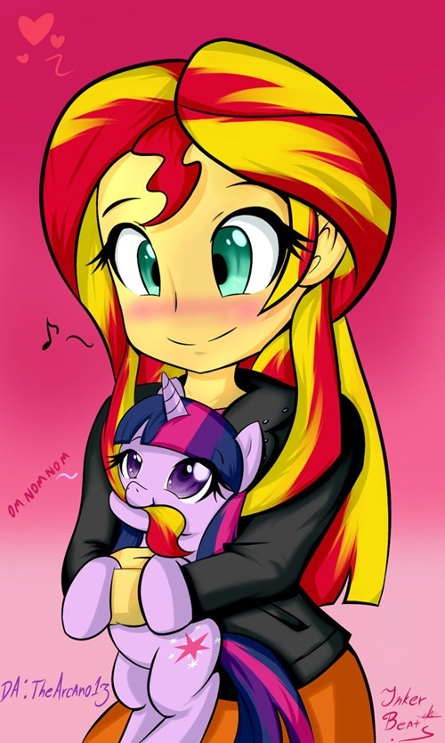 twilight sparkle nibbles sunset shimmer bacon - 8540026880