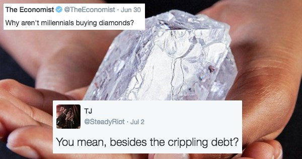 millennials not buying diamonds