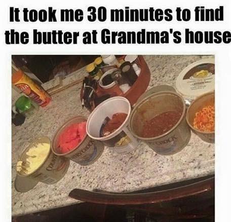 funny memes butter grandmas house
