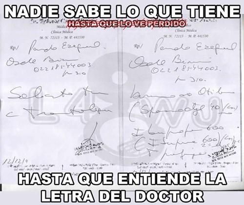 letra del doctor