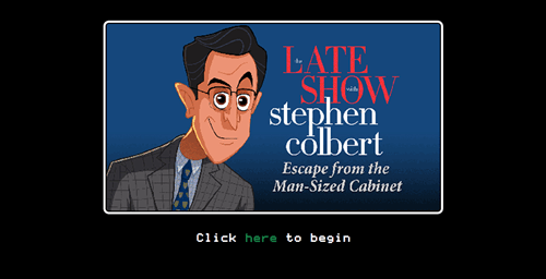 Stephen Colbert has a new choose your own adventure game.