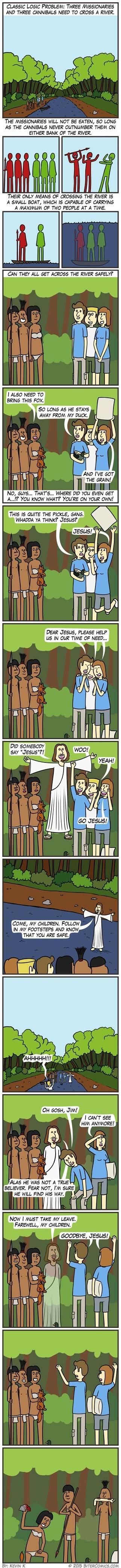 jesus sad but true logic cannibals web comics - 8540516608