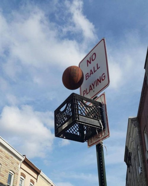 no ball playing,basketball