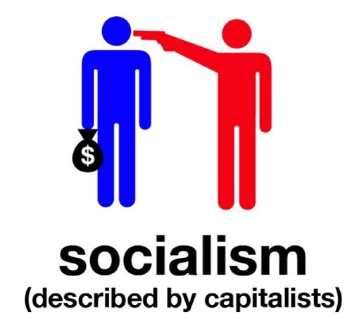 Text - '$ socialism (described by capitalists)