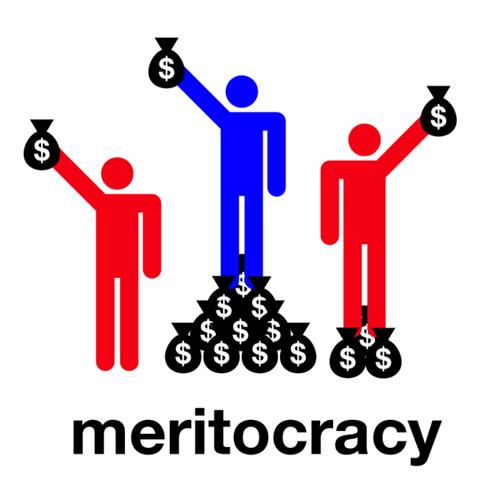 Line - $ $ $ $ $1$ meritocracy