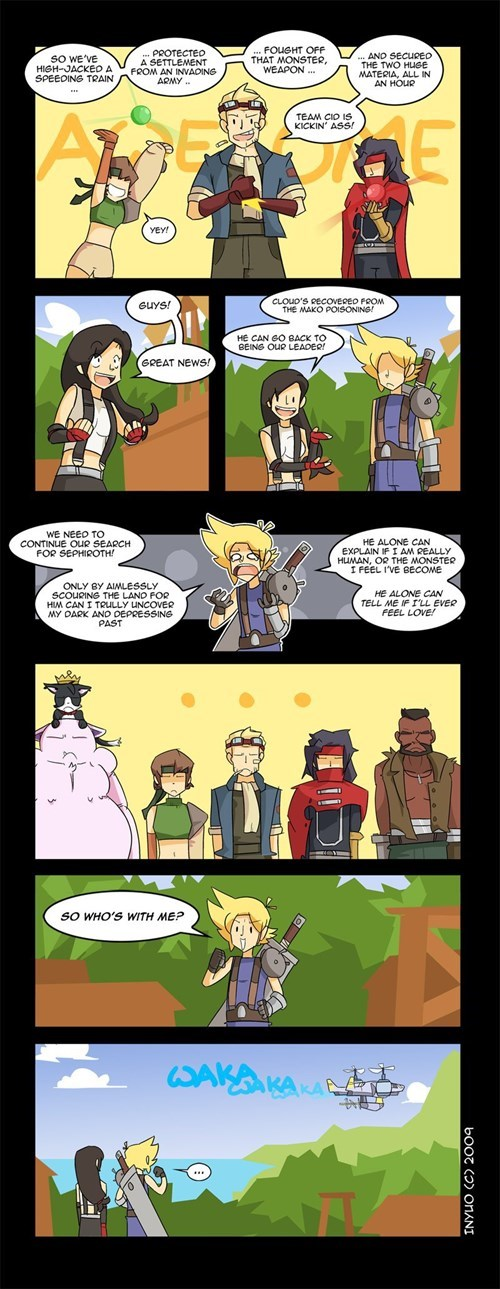 final fantasy,cloud,final fantasy VII,web comics
