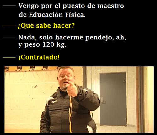 profesor de educacion fisica